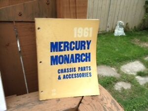 1961 manual for Mercury Monarch chassis parts & accessories