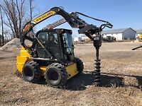 Skid Steer Services - Post Hole augering