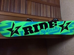 Ride Splash 152 Snowboard and bindings