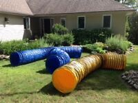 COMPETITION PVC AGILITY TUNNEL 15 FT X 4 INCH PITCH