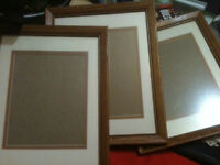 3 oak pictures frames