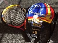 Kids Head Agassi Junior Series 19 inch Tennis Racket & Cover – red/yellow/blue - Good Condition