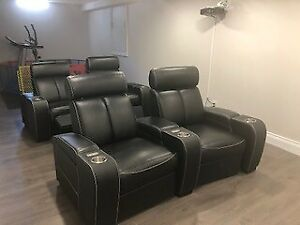 Leather Power Home Theatre 2 seat recliners