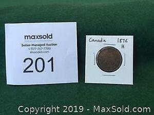1876H Large Canadian Penny A