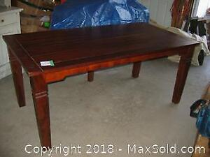 Antique Solid Red Mahogany Lodge or Harvest Table B