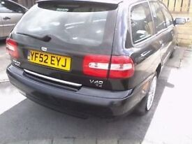 2002 VOLVO V40 + S40 DOOR / WING / TAILGATE , SPORT / T4, breaking , parts/ cheap
