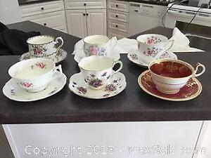 Collection Of Tea Cups And Saucers