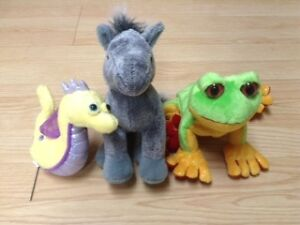 The 3 amigos, the Arabian horse, the Tree frog and the Seahorse