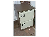 2 Draw Metal Filing Cabinet