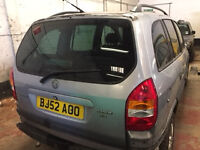 Vauxhall Zafira Elegance 16v 2.2 Petrol Automatic 2002 Breaking for Parts