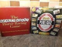 Games. Pub Quiz and Horse Racing. Brand New