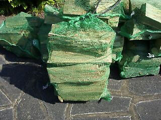 DRY SEASONED LOGS IN NETLON BAGS - Just £2.50 per bag collection only