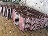 125 Marley Ludlow roof tiles, Antique red almost new very good quality tiles 29 by 34, collect n22