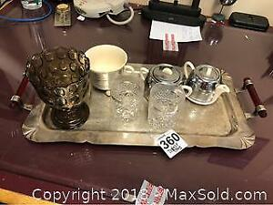Serving Tray And British Tea Set A
