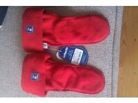 Jojo Maman Bebe Polarfleece Welly Liners 3-4 years(foot measures 17cm approx) New with tags - £8