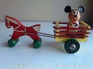 Vintage Wooden Horse And Cart