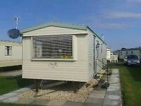 Caravan for hire at coastfields holiday village in ingoldmess skegness