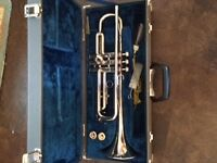 Silver Plated Yamaha Bb trumpet