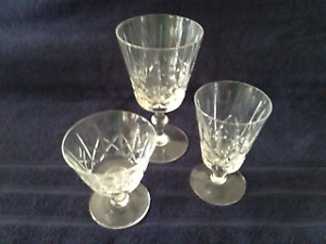 CROSS AND OLIVE CRYSTAL GOBLETS