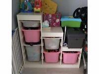White Trofast Toy Storage Unit from Ikea