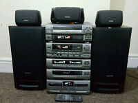 Aiwa classic hifi stereo system with surround sound