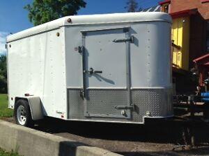 united 6x10 v-nose enclosed trailer