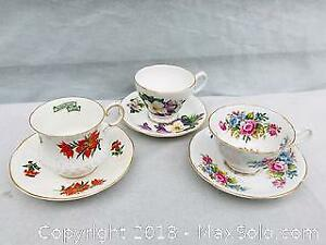 Vintage English Fine Bone China Cups and Saucers