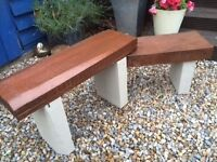 Vintage garden bench from reclaimed timber available as 2 seater, great for adult / child sharing