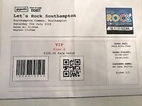 One VIP Tier 2 Ticket for Let's Rock Southampton Saturday 7th July 2018