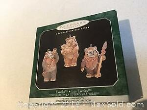 "Hallmark Keepsake Christmas Ornament Star Wars ""Ewoks"""