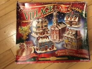 Christmas 3D Holiday Village Puzzle