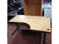 1600MM or 1800MM Flat Pack Curved Desks - Lightly Used