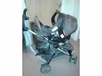 Gracco Travel System - Chocolate Brown and Gold