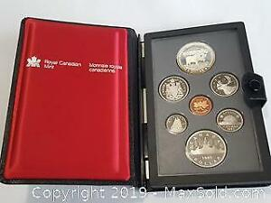 1985 Royal Canadian Mint Double Dollar Set celebrating the 100th Anniversary of the National Parks of Canada