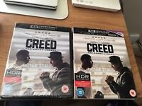 CREED on 4K ULTRA HD & BLU RAY ... RRP £29.99 MY PRICE £10 Can Post for £13 PAYPAL F & F