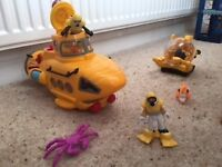 Fisher Price Imaginext Yellow Submarine bundle-excellent condition