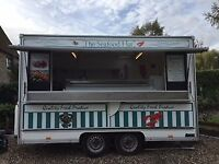 Mobile Catering Unit for Sale £6,000 ONO, with 2m long mobile fish counter or £5,000 without