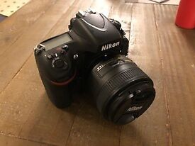 Mint Condition Nikon D800E Full Frame Camera with 2 fantastic prime lenses - Shutter Count 11500