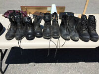 Horse riding shoes (assortment) and horse riding helmet