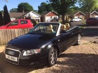 Audi A4 Convertable - Heated Cream leather Seats, Air Con, Built In Sat Nav, Excellent Runner