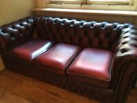 Chesterfield - 3 seater sofa, 2 armchairs and 2 recliner chairs for sale