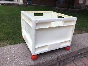 TWO Rolling Toy Boxes on Wheels