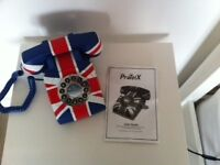 Retro -style Union Jack Home Telephone - push button