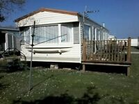 3 bed and 2 bed Static caravan's and Park homes for hire St Merryn , Padstow Cornwall