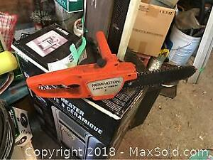 Electric Chainsaw And Grinder A