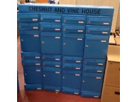 Blue Metal Mail Boxes