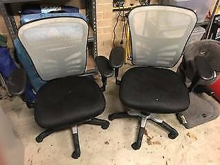 2x Adjustable Desk/Office Chairs (Sold Separately)
