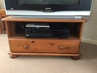 PINE TV CABINET WITH DRAWER