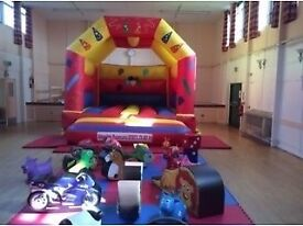Large bouncy castle and soft play