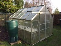 Greenhouse (10ft x 8ft) Needs clean but good condition and fruit net (24ft x 12ft) nearly new